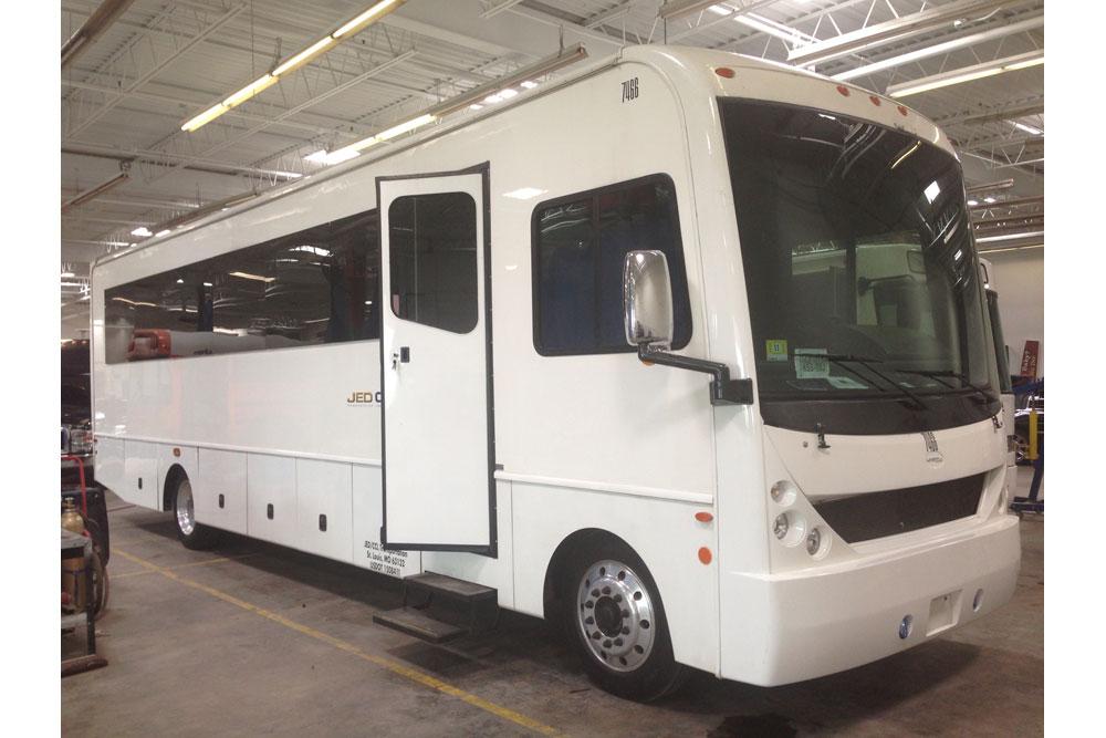 35 passenger executive shuttle bus exterior