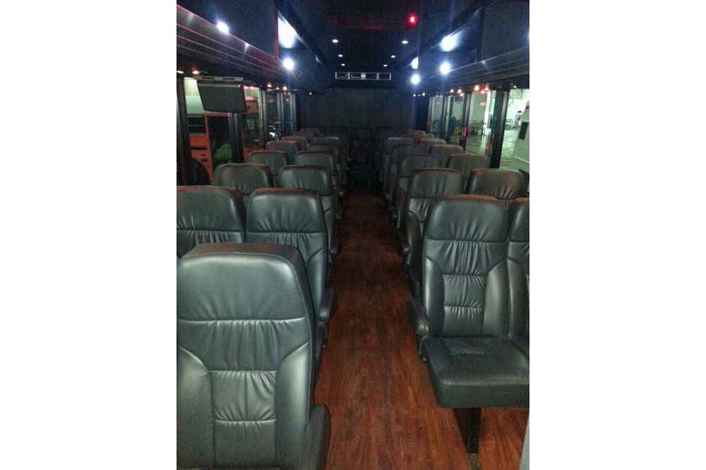 35 passenger executive shuttle bus interior