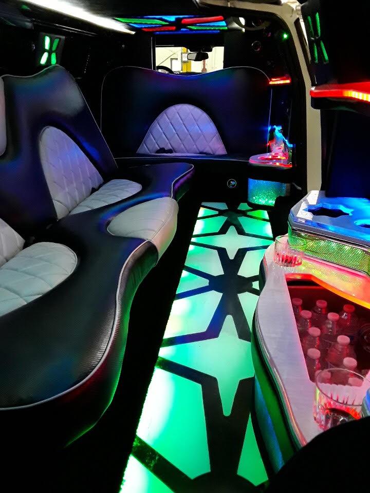 6 passenger stretch limo inside