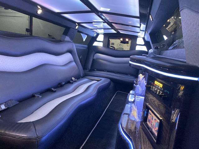8-10 passenger limo interior